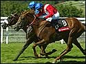 Kieren Fallon and Russian Rhythm took the 2003 1,000 Guineas